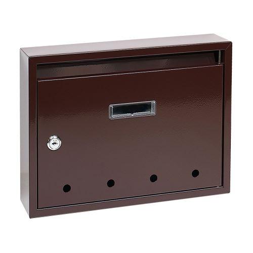 Poštovní schránka do sestav STANDARD - malá HNĚDÁ