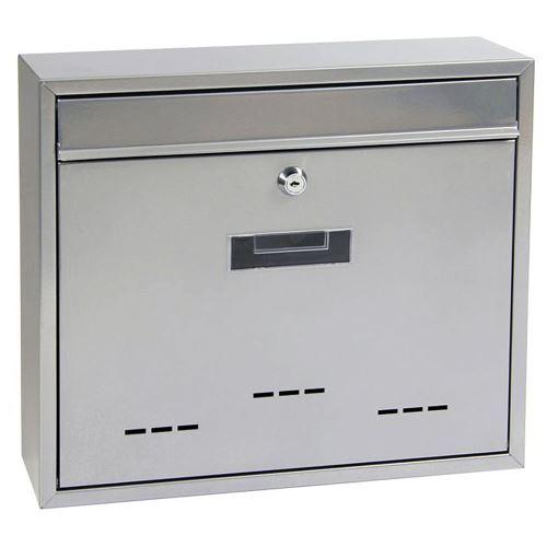 Poštovní schránka do sestav velká - STŘÍBRNÁ