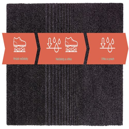 Vstupní čistící rohož třizónová 133 x 150 cm