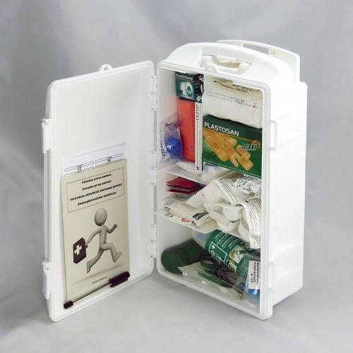 Přenosná lékárnička bílá s náplní STAVBA
