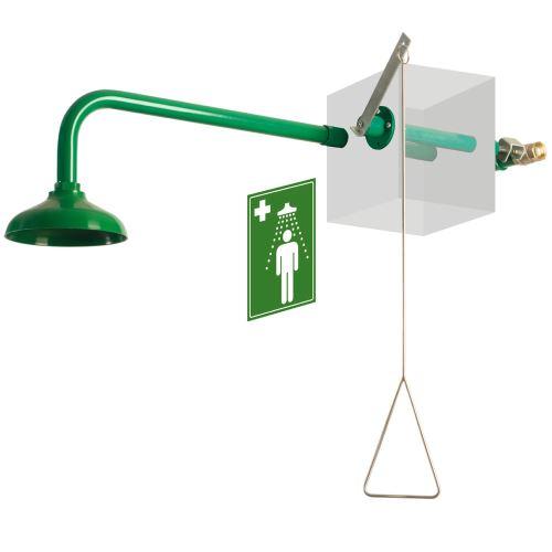 Tělní bezpečnostní sprcha venkovní  - nástěnná polypropylenová
