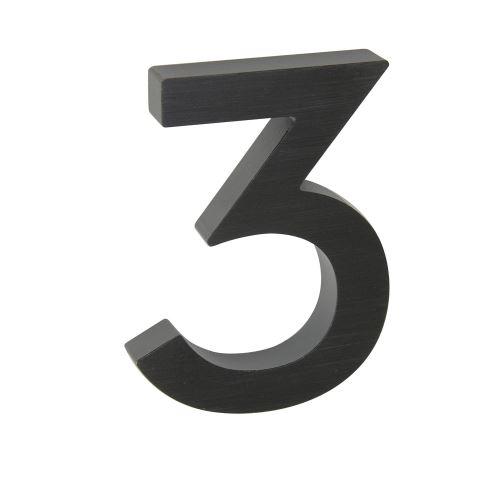 Domovní číslo 3D AL antracit - č. 3
