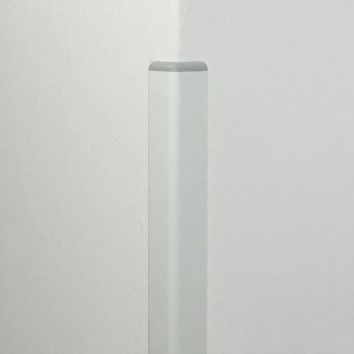 Ochrana rohu DELUX AL 50 - délka 1,5 m -  BÍLÁ + koncovka SVĚTLE ŠEDÁ