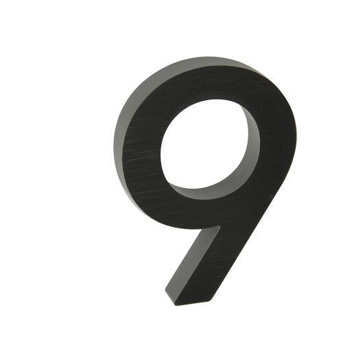 Domovní číslo 3D AL antracit - č. 9