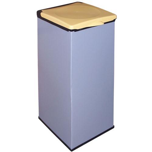 Koš na odpadkové pytle  MONTI  - víko ŽLUTÉ