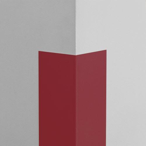 Plastová ochrana rohu LUX - TMAVĚ ČERVENÁ - samolepící - délka 2 m