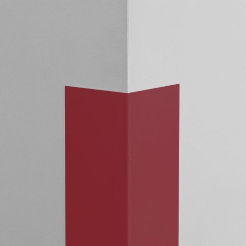 Plastová ochrana rohu LUX - TMAVĚ ČERVENÁ - standard - délka 2 m