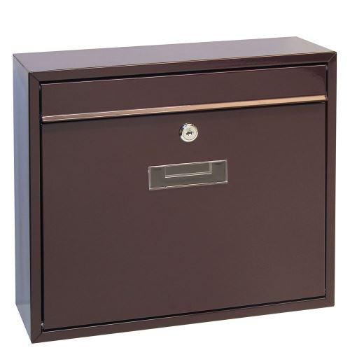 Poštovní schránka do sestav velká - HNĚDÁ