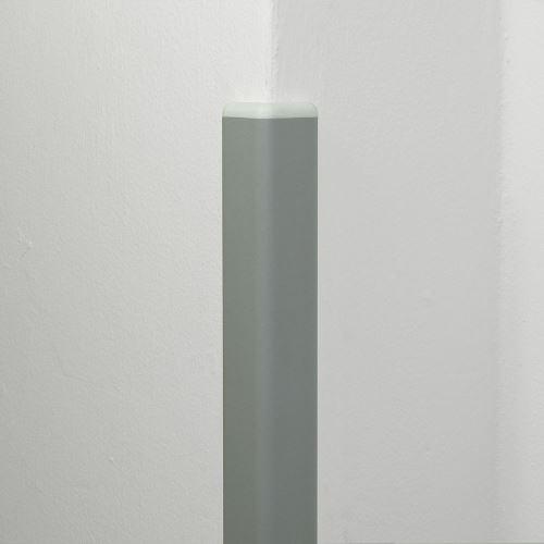 Ochrana rohu DELUX AL 50 - délka 1,5 m - SVĚTLE ŠEDÁ + koncovka BÍLÁ