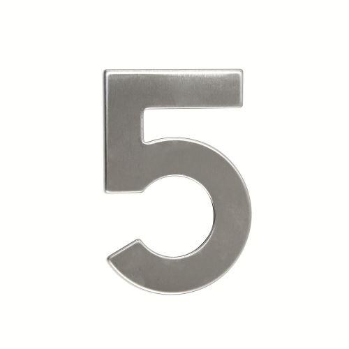 Domovní číslo nerezové - č. 5