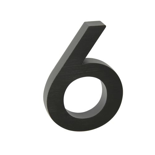 Domovní číslo 3D AL antracit - č. 6