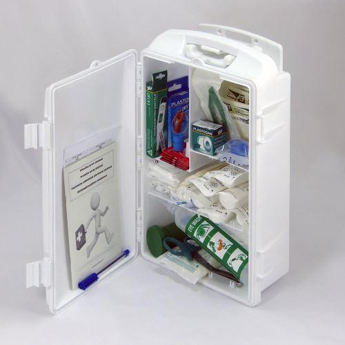Přenosná lékárnička bílá s náplní SKLAD - OBCHOD