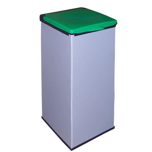 Koš na odpadkové pytle  MONTI - víko ZELENÉ