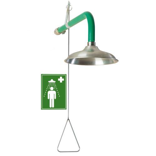 Tělní bezpečnostní sprcha - nástěnná nerezová