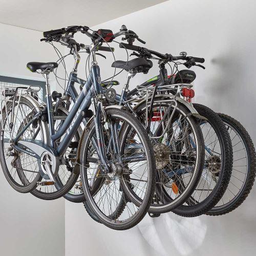 Stěnový držák  jízdních kol - pro 4 kola