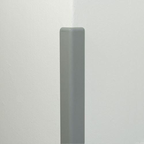 Ochrana rohu DELUX AL 50 - délka 1,5 m - SVĚTLE ŠEDÁ + koncovka SVĚTLE ŠEDÁ