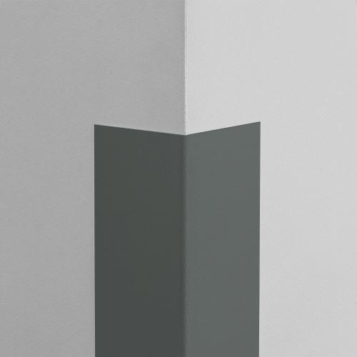 Plastová ochrana rohu LUX - GRAFITOVÁ - samolepící - délka 1,5 m
