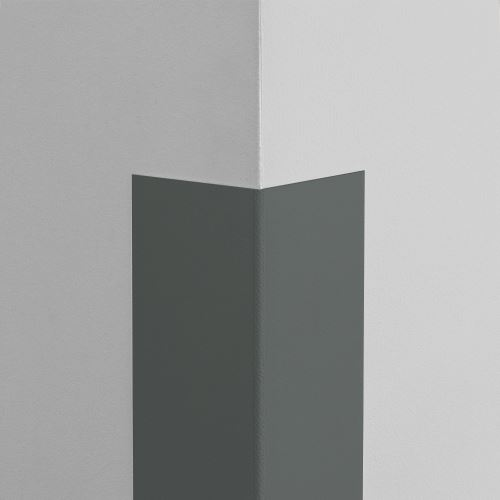 Plastová ochrana rohu LUX - GRAFITOVÁ - samolepící - délka 2 m