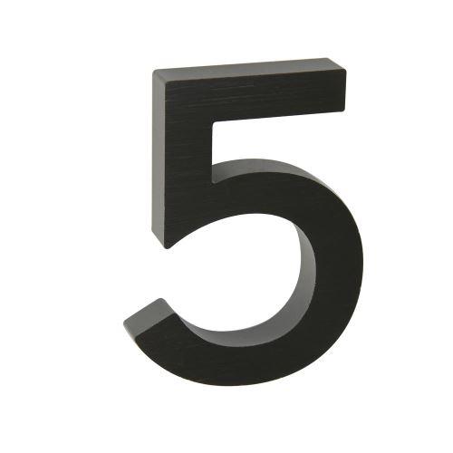 Domovní číslo 3D AL antracit - č. 5
