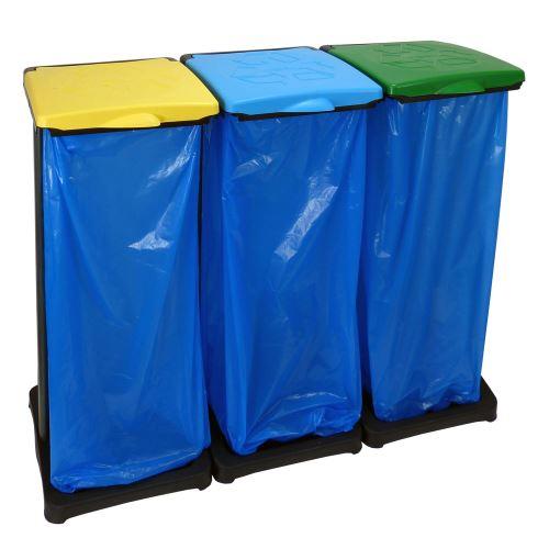 Držák 3 odpadkových pytlů - pro třídění odpadu