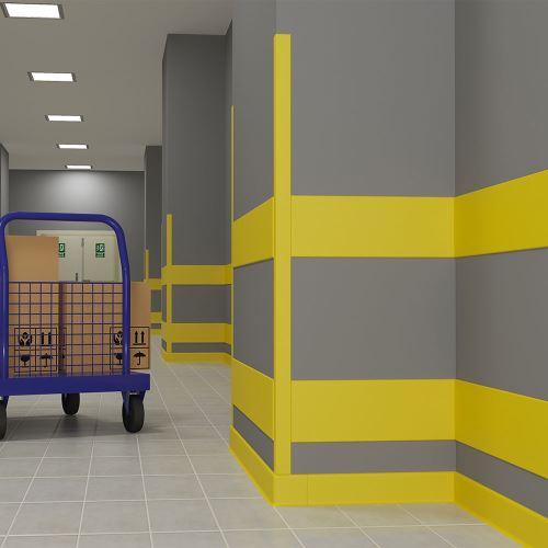 Ochranný roh zdí pro potravinářské provozy 7,5 x 7,5 x 200 cm