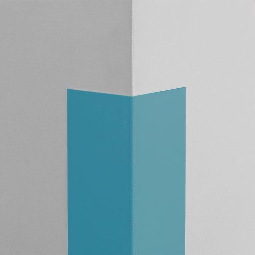 Plastová ochrana rohu LUX - SVĚTLE MODRÁ - samolepící - délka 2 m