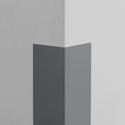 Plastová ochrana rohu LUX - TMAVĚ ŠEDÁ - samolepící - délka 1,5 m