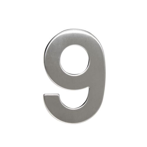 Domovní číslo nerezové - č. 9