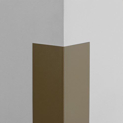 Plastová ochrana rohu LUX - SVĚTLÁ ČOKOLÁDA - samolepící - délka 1,5 m