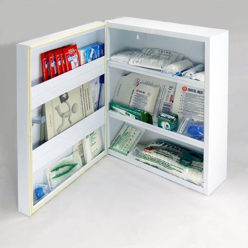 Lékárnička kovová střední LKS s náplní ŠKOLA