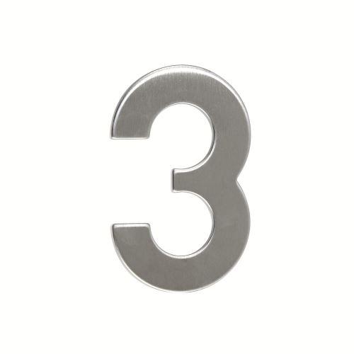 Domovní číslo nerezové - č. 3