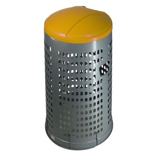 Stojan na odpadkové pytle 120 l EKOLINE NEW - víko ŽLUTÉ