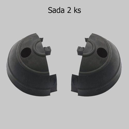 Zakončení ochraného pásu GARAGE - ČERNÉ - balení 2 ks