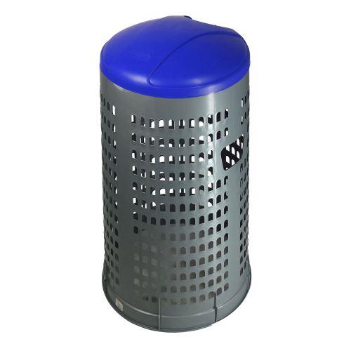 Stojan na odpadkové pytle 120 l EKOLINE NEW- víko MODRÉ