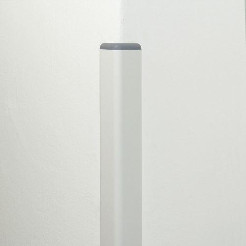 Ochrana rohu DELUX AL 50 - délka 1,5 m -  BÍLÁ + koncovka TMAVĚ ŠEDÁ