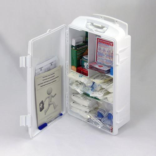 Přenosná lékárnička bílá s náplní POPÁLENINY