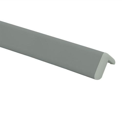 Ochrana rohu DELUX AL 76 - délka 1,5 m - TMAVĚ ŠEDÁ + koncovka SVĚTLE ŠEDÁ