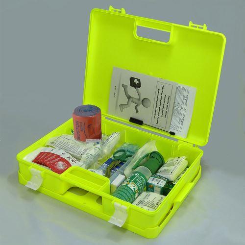 Kufr první pomoci FLUO 3 s náplní STAVBA