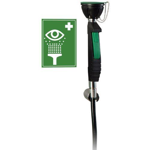 Ruční bezpečnostní oční sprcha 1H s flexibilní hadicí - stěnová