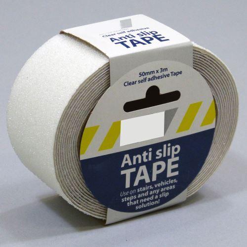 Protiskluzová samolepící páska - PRŮHLEDNÁ 5 cm x 3 m