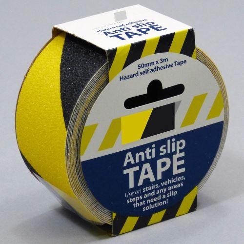 Protiskluzová samolepící páska - ŽLUTO / ČERNÁ 5 cm x 3 m