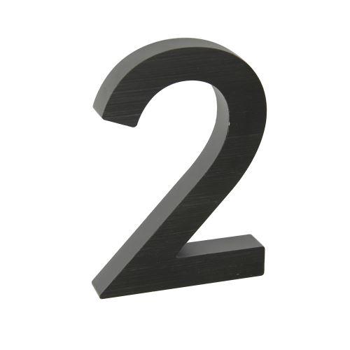 Domovní číslo 3D AL antracit - č. 2
