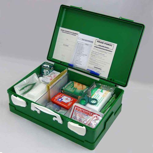 Kufr první pomoci ZELENÝ s náplní POPÁLENINY