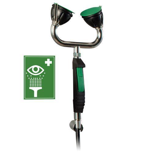 Ruční bezpečnostní oční sprcha 2H s flexibilní hadicí – stěnová