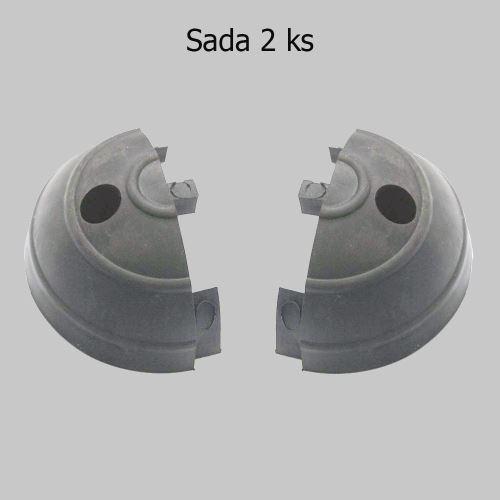 Zakončení ochraného pásu GARAGE - ŠEDÉ - balení 2 ks