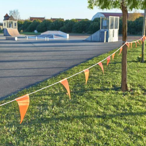 Vlajkový provazec výstražný - délka 30m