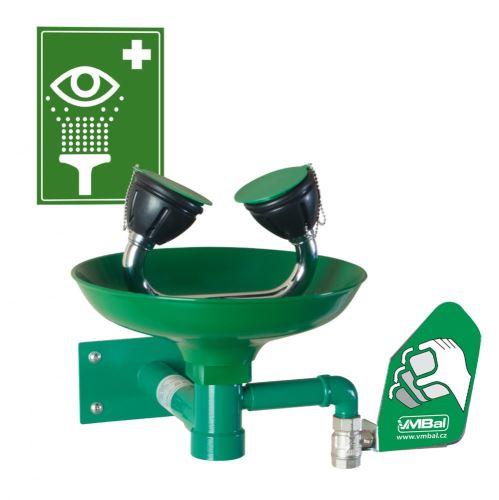 Oční bezpečnostní sprcha - nástěnná polypropylenová