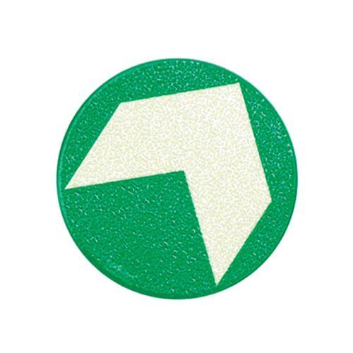 Úniková fotoluminiscenční šipka na podlahu 9,5 cm - BALENÍ 10 ks