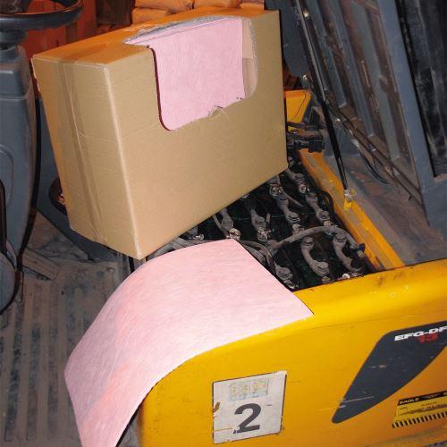 Chemické sorpční rohože 40 x 50 cm v kartonu - BALENÍ 50 ks